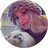 Testimonial - Anna and Scottish Fold lilac point cat Atalanta of Simba Iceberg (Donetsk, Ukraine)