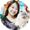 Testimonial - Aya Kubota and Scottish Fold blue point cat Simba Iceberg Flo of Tinytiny (TinyTiny cattery, Tokyo, Japan)
